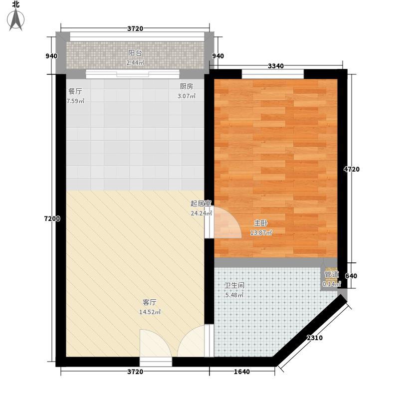 魁星小区53.00㎡魁星小区2室户型2室