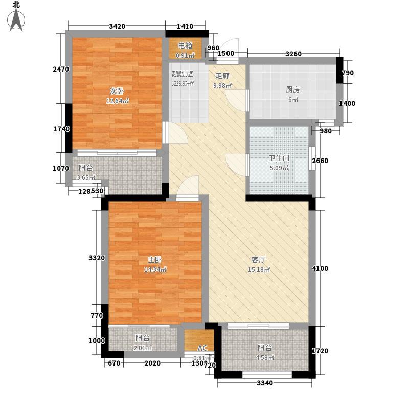 富邦华府89.36㎡23#B户型2室2厅