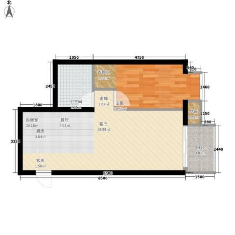 长安小区1室0厅1卫0厨60.00㎡户型图