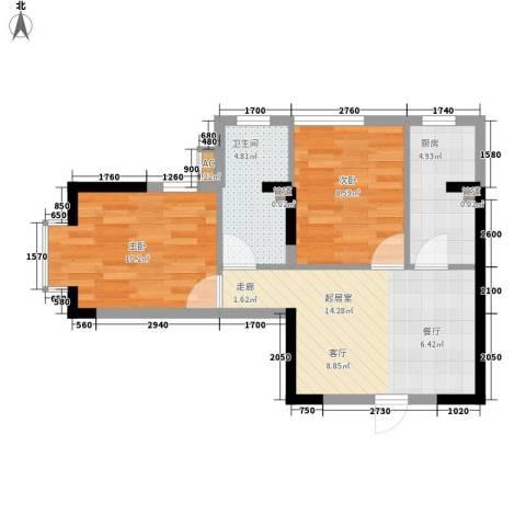 金丰花园2室0厅1卫1厨55.00㎡户型图