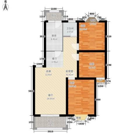 腾达雅苑3室0厅1卫1厨100.00㎡户型图