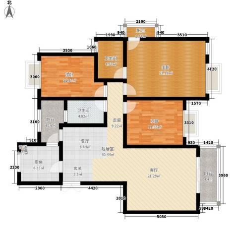 劲力五星城3室0厅2卫1厨158.00㎡户型图