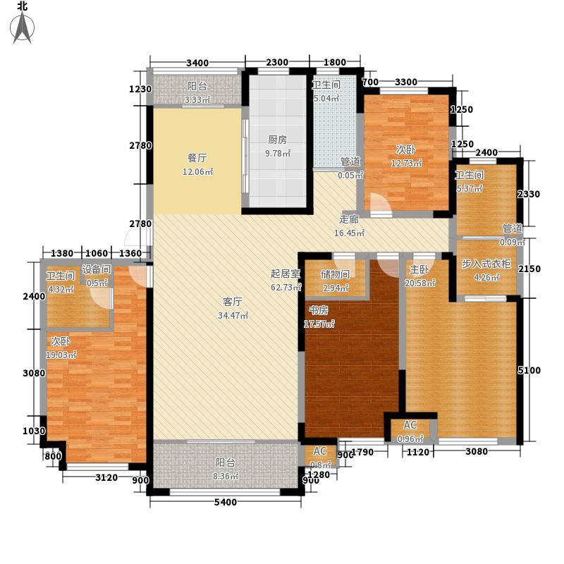 绿地塞尚公馆243.00㎡绿地塞尚公馆户型图A10户型4室2厅3卫户型4室2厅3卫