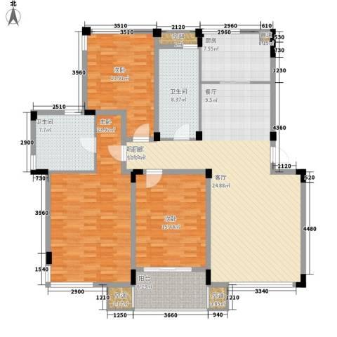 信旺华府骏苑3室0厅2卫1厨146.00㎡户型图