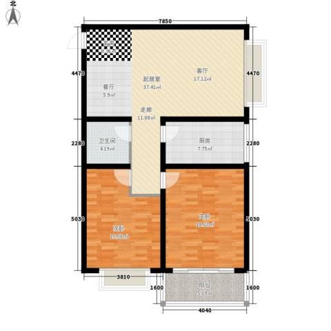 百合花园二期2室0厅1卫1厨99.00㎡户型图
