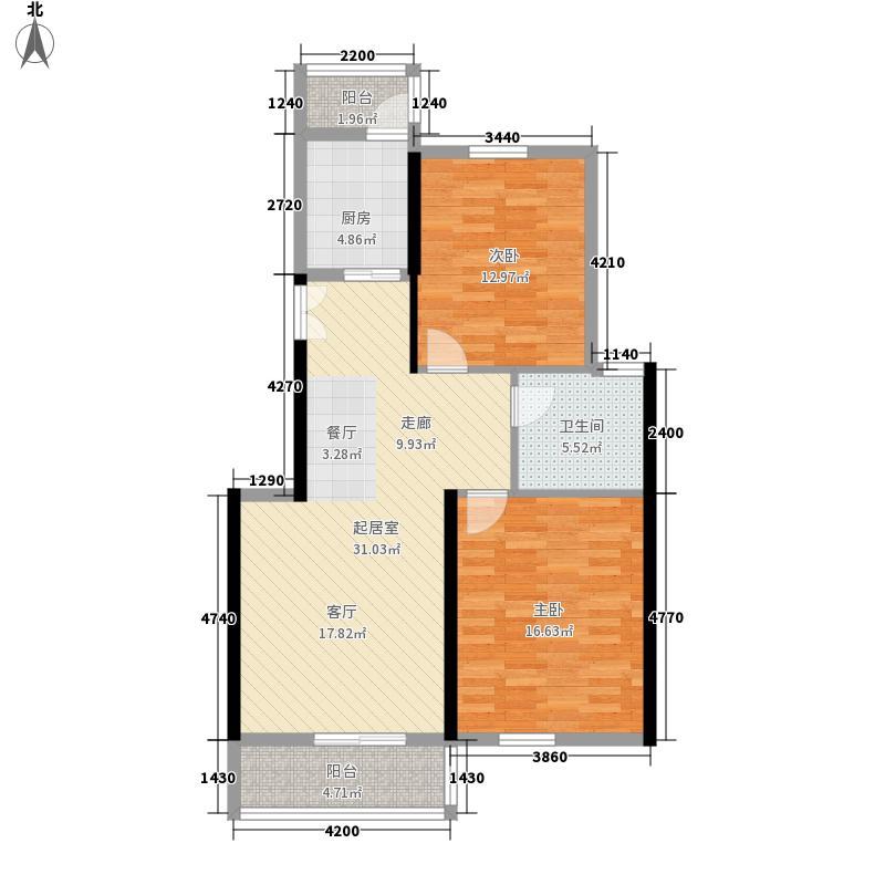 博亚龙湾101.59㎡2-7层公寓户型2室2厅1卫