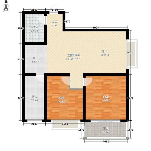 百合花园二期2室0厅1卫1厨98.00㎡户型图