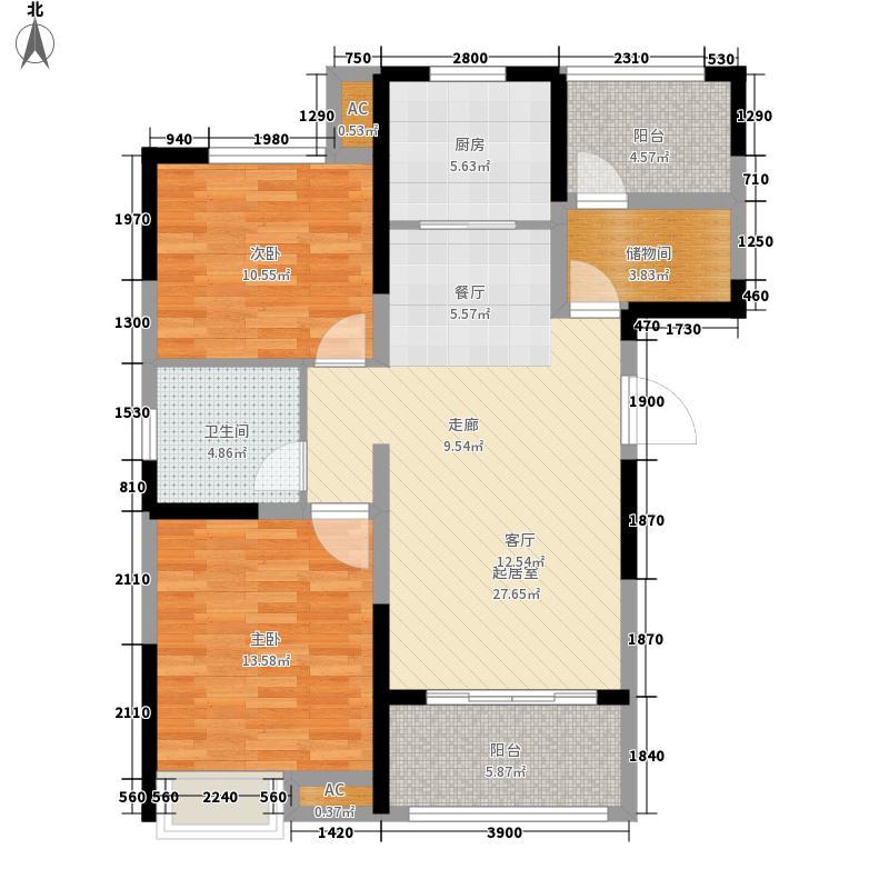 高速翡翠湖畔101.79㎡高速翡翠湖畔户型图5#B3户型图2室2厅1卫1厨户型2室2厅1卫1厨