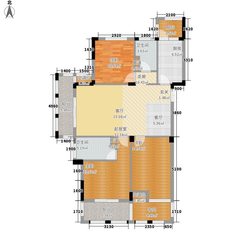万城春天110.00㎡万城春天户型图5,6,7号楼-D-1户型3室1厅2卫1厨户型3室1厅2卫1厨