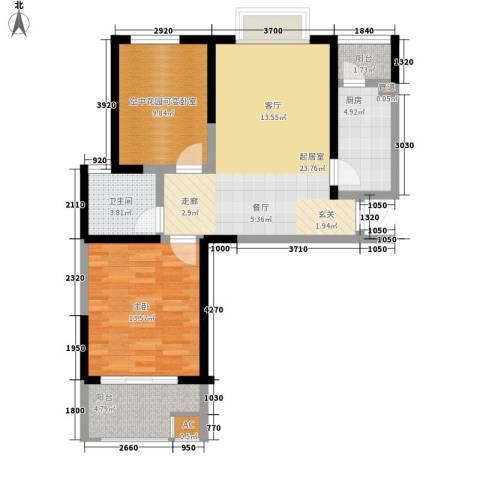 经典华城一期梧桐语1室0厅1卫1厨79.00㎡户型图