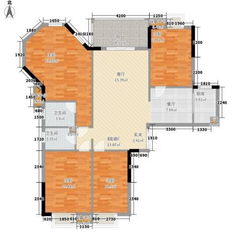 华南碧桂园翠宏台4室1厅2卫1厨146.00㎡户型图