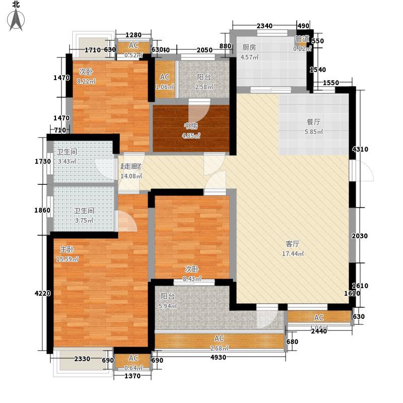 保利时代136.00㎡C户型4室2厅