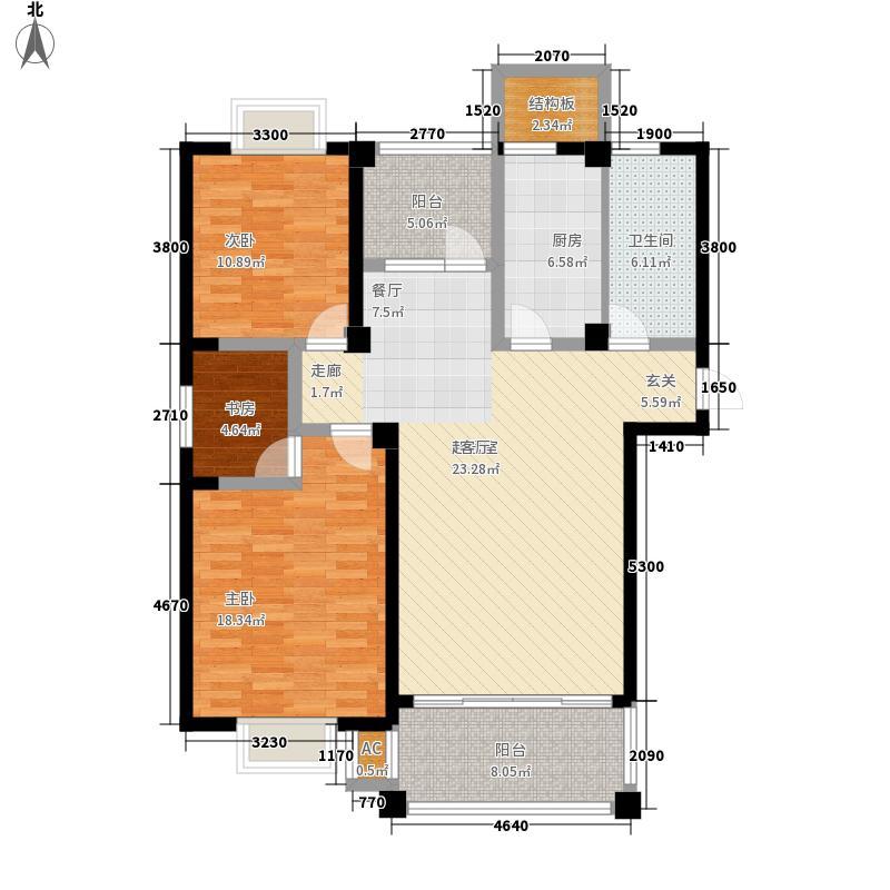 福瑞嘉园116.65㎡福瑞嘉园户型图D户型3室2厅1卫1厨户型3室2厅1卫1厨