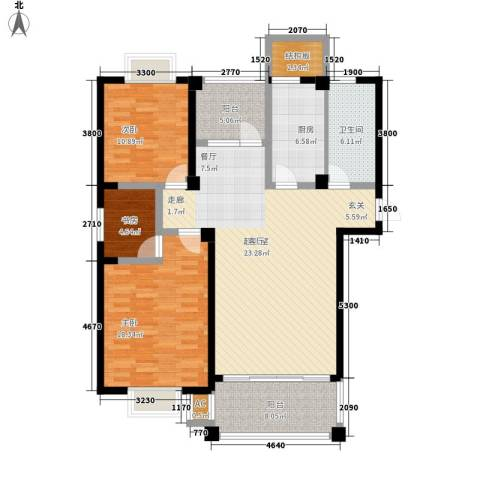 福瑞嘉园3室0厅1卫1厨117.00㎡户型图
