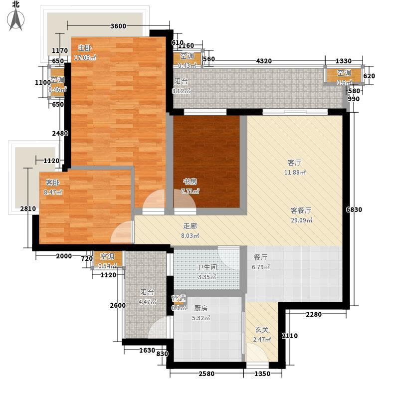嘉信城市花园 3室 户型图