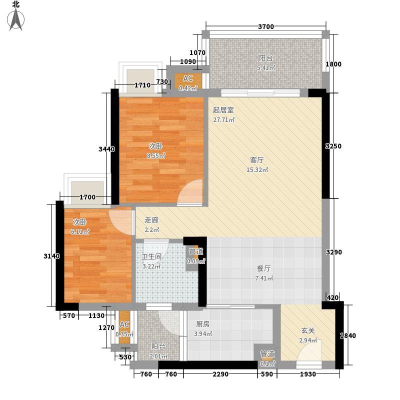 阳光・未来城阳光・未来城江�73方二房户型2室2厅2卫户型10室