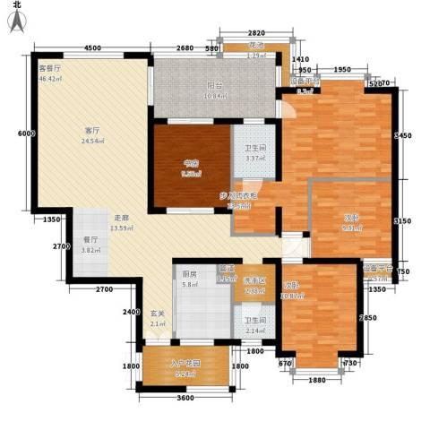 维多利亚别墅4室1厅2卫1厨300.00㎡户型图