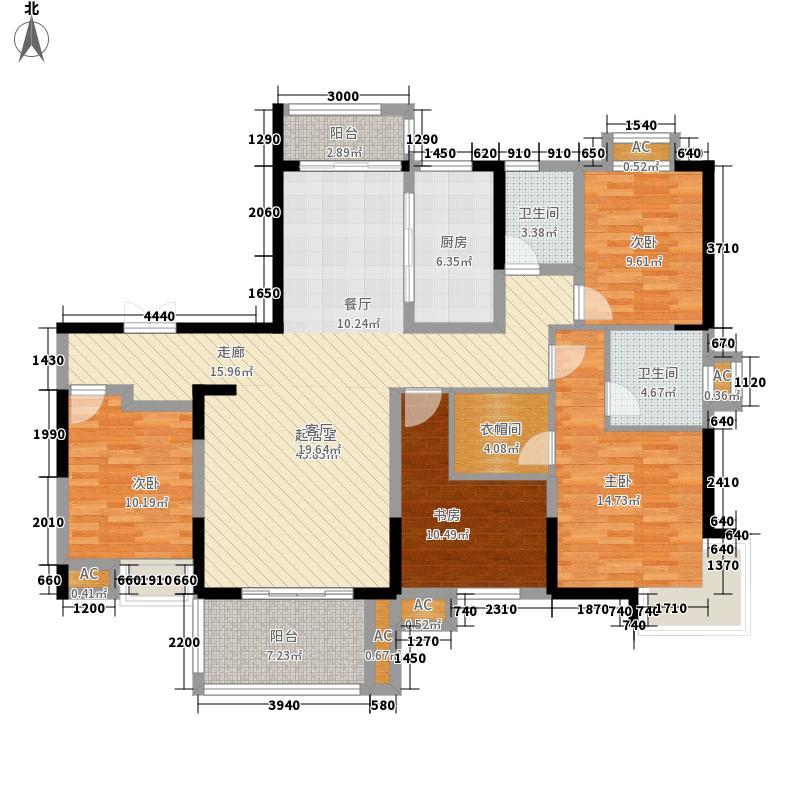 高速翡翠湖畔170.33㎡高速翡翠湖畔户型图5#B1户型4室2厅2卫1厨户型4室2厅2卫1厨