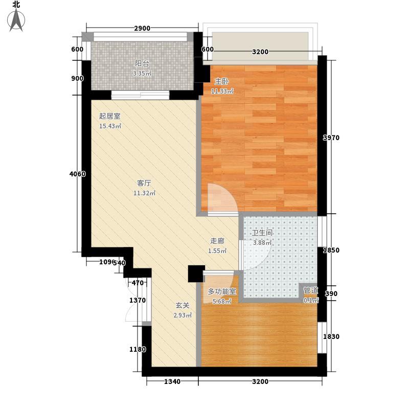 联邦广场52.38㎡联邦广场户型图1室1厅1卫1厨户型10室