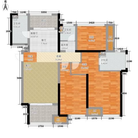 星光耀广场3室1厅3卫0厨120.00㎡户型图