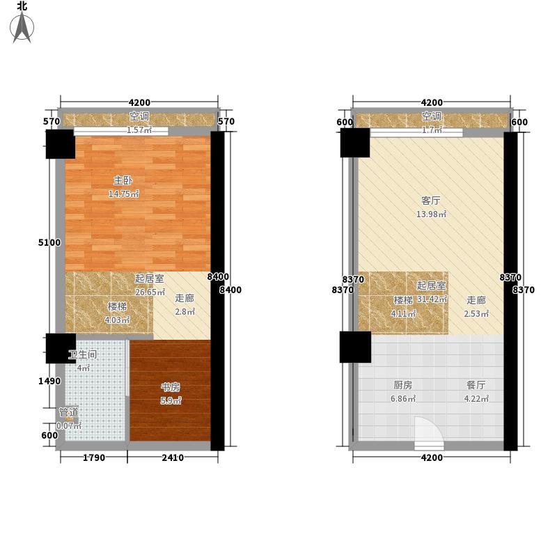 御景湾45.00㎡御景湾户型图菲特国际B4户型1室2厅1卫1厨户型1室2厅1卫1厨