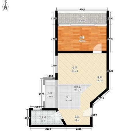 隆基怡苑1室0厅1卫1厨50.00㎡户型图