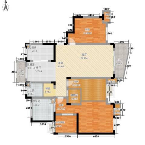 国际华城3室0厅2卫1厨156.00㎡户型图