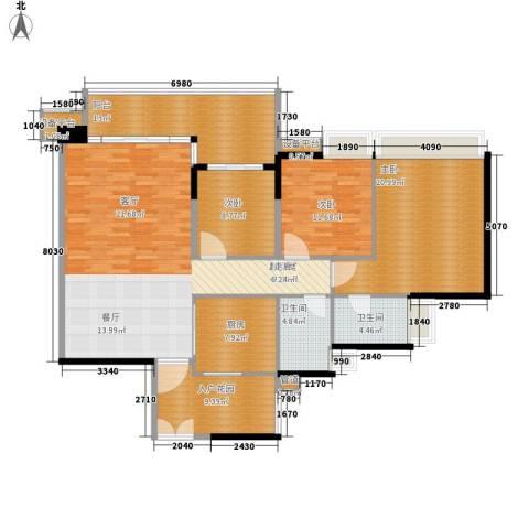 誉峰3室0厅2卫1厨139.00㎡户型图