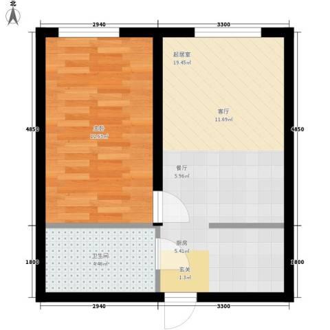 山湖新村1室0厅1卫0厨47.00㎡户型图