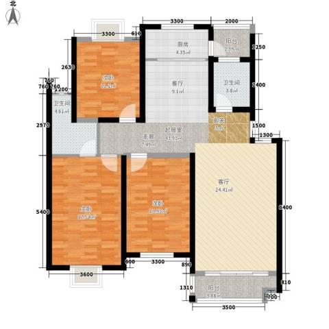 双子星国际广场3室0厅2卫1厨150.00㎡户型图