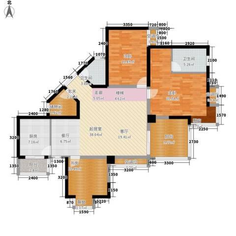 金元国际新城3室0厅2卫1厨146.00㎡户型图