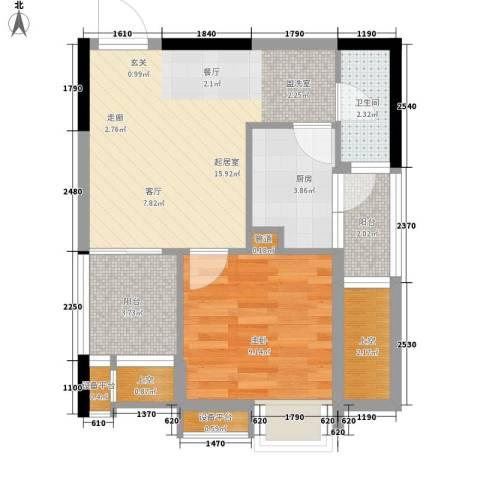 伯爵公馆1室0厅1卫1厨61.00㎡户型图