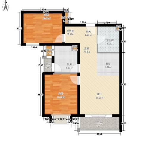 伯爵公馆2室0厅1卫1厨94.00㎡户型图