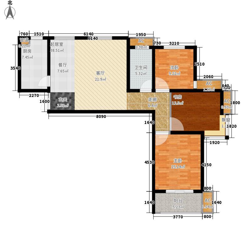 左邻右舍112.00㎡B户型3室2厅