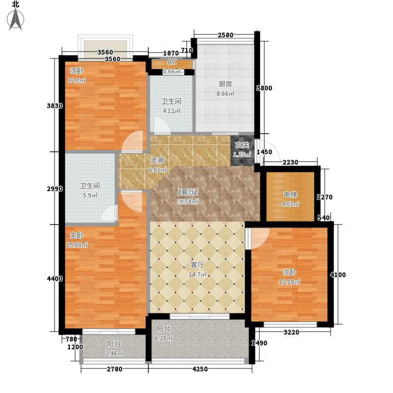 格林生活广场橘园118.00㎡面积11800m户型