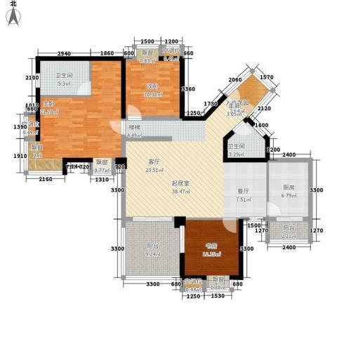 金元国际新城3室0厅2卫1厨135.00㎡户型图