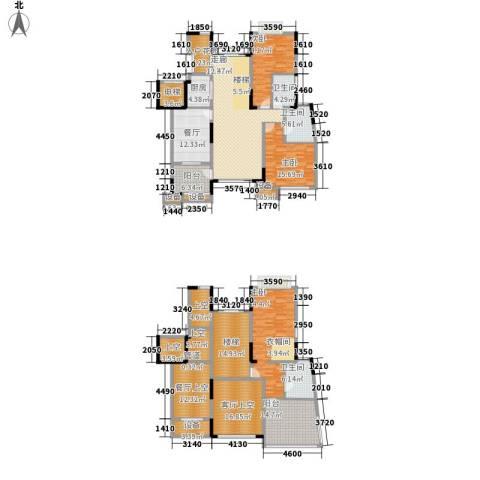 天景雨山前3室2厅3卫1厨213.58㎡户型图
