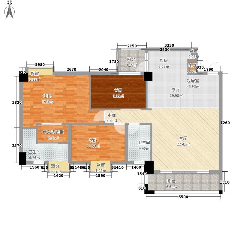 南沙玫瑰花园122.00㎡南沙玫瑰花园户型图04单位3室2厅2卫1厨户型3室2厅2卫1厨