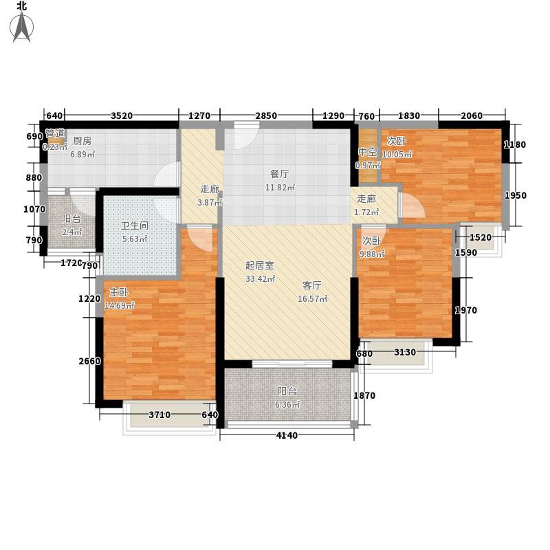 恒大帝景104.15㎡恒大帝景户型图104.15平米户型3室2厅1卫1厨户型3室2厅1卫1厨