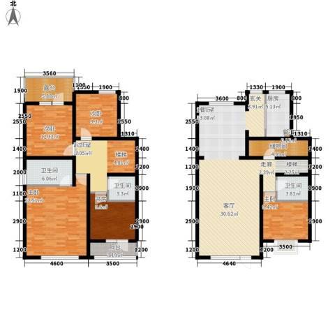 玉函新南区5室0厅3卫1厨228.00㎡户型图