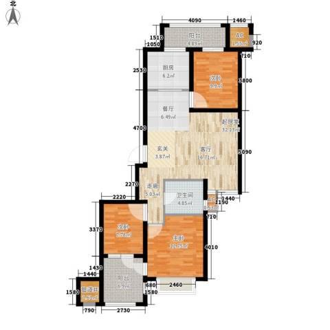 荣盛馨河郦舍3室0厅1卫1厨103.00㎡户型图
