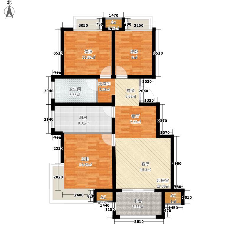 荣盛馨河郦舍98.63㎡荣盛馨河郦舍户型图C1户型3室2厅1卫1厨户型3室2厅1卫1厨