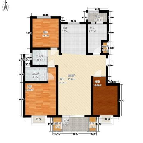 康城・瑞河兰乔3室1厅2卫1厨145.00㎡户型图