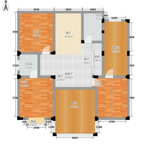 红丰家园二期3室1厅2卫1厨130.00㎡户型图