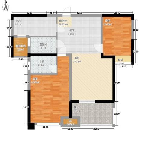 武汽宿舍2室0厅2卫1厨94.00㎡户型图