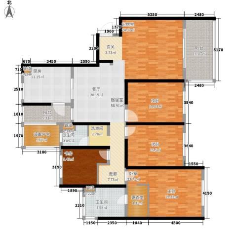 南通运杰龙馨园3室0厅2卫1厨190.00㎡户型图