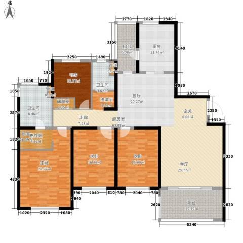 南通运杰龙馨园3室0厅2卫1厨196.00㎡户型图