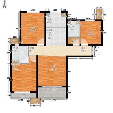 丽景御园3室0厅2卫1厨165.00㎡户型图