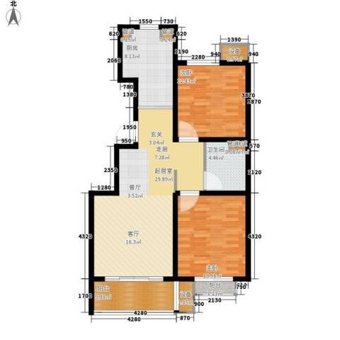 丽景御园2室0厅1卫1厨114.00㎡户型图