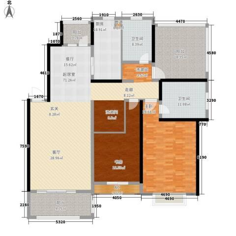 春天花园2室0厅2卫1厨202.00㎡户型图
